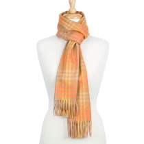 AlpaSoft Woven Scarf - Orange Plaid