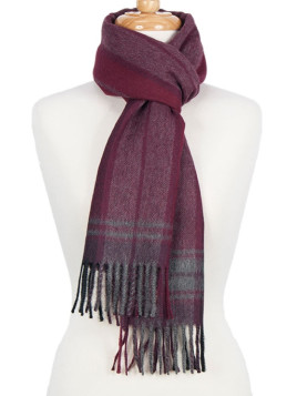 Scarf Burgundy Check