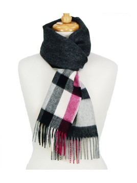 Scarf Black Check